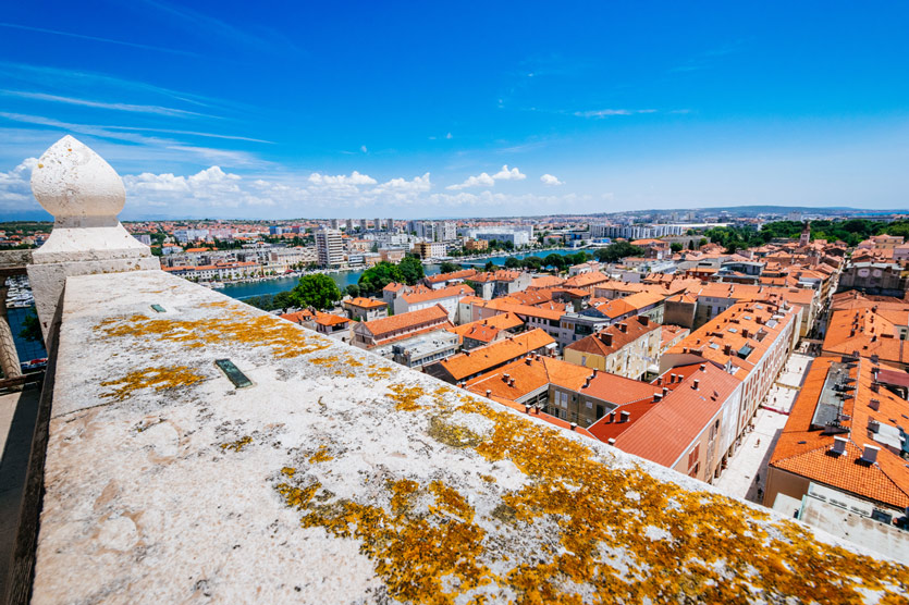 View from the top of the bell tower of the church of St. Anastasia - Stosija in Zadar